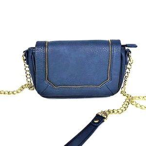 Olivia + Joy Navy Chain Crossbody Bag